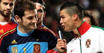 Iker Casillas y Cristiano Ronaldo