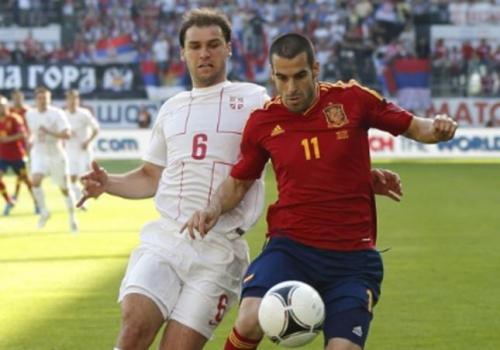 Negredo contra Serbia. Foto:lainformacion.com/EFE