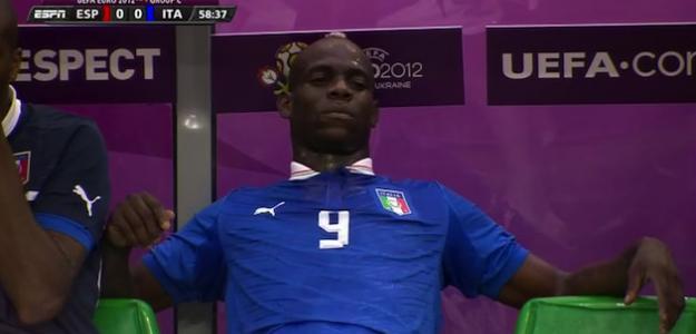 Mario Balotelli, delantero de Italia en la Eurocopa 2012