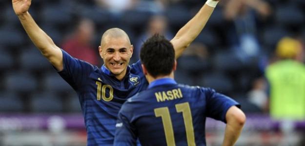 Benzema y Nasri en la Eurocopa 2012