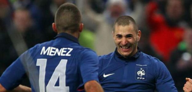 Benzema con Francia. Foto: lainformacion.com