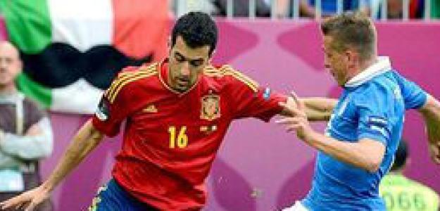 Sergio Busquets contra Italia en la Eurocopa 2012