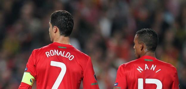 Cristiano Ronaldo y Nani con Portugal