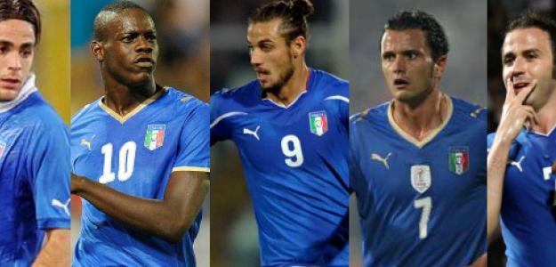 Las opciones de Prandelli para la delantera de Italia