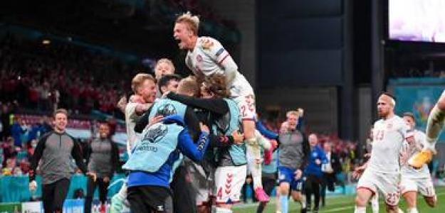 Dinamarca, remontada en Eurocopa 2021. Foto: gettyimages