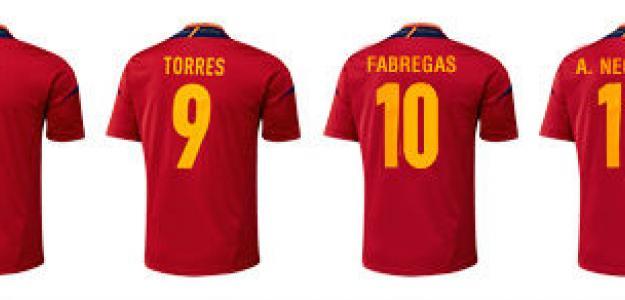Dorsales de España para la Eurocopa 2012. Foto: Marca.com