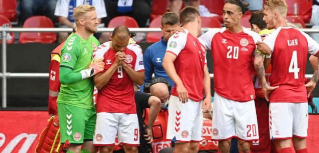 Desfallecimiento Eriksen, influencia deportiva Eurocopa 2021. Foto: gettyimages