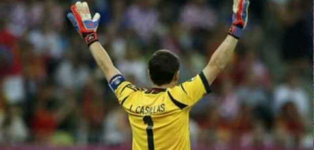 Iker Casillas con España en la Eurocopa 2012