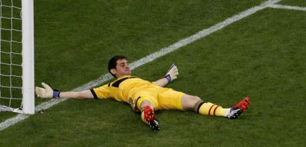 Iker Casillas en el España-Portugal de la Eurocopa 2012