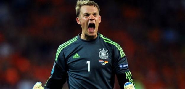 Neuer celebra una victoria de Alemania. Foto:twitter.com