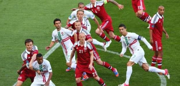 Dinamarca en la Eurocopa 2012 contra Portugal