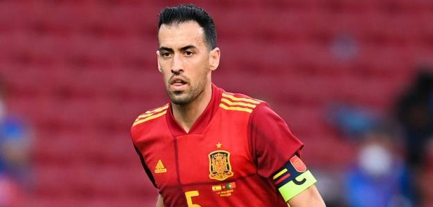 Sergio Busquets, baja opciones España. Foto: gettyimages